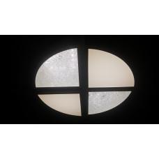 Светодиодный светильник круглый потолочный 42Вт, диаметр 40см. Четыре положения света (теплый, белый, холодный, ночник приглушенный). Пульт ДУ в комплекте.