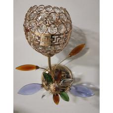 Бра  с подсветкой светодиодной 2815-1 хрустальный плафон золото