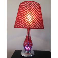 Настольная лампа 3075 красная
