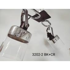 Люстра 3202-2/BK+CR