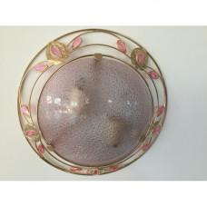 Потолочно-настенный светильник 48313-2 розовый. Лампы в подарок!
