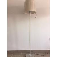 """Напольный светильник основание хром, абажур """"рогожка"""" есть дополнительная светодиодная лампочка на направляющей. Высота 165 см."""