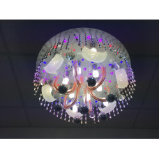 ЛЮСТРА со светодиодной подсветкой и ПДУ E-14 12 ламп  6172/600