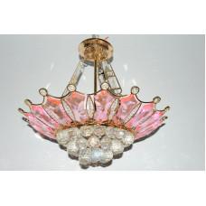 Люстра 48155/6 розовое стекло