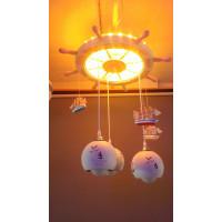 Детская люстра светодиодная в морском стиле, подвесная (длинна регулируется), несколько положений света. Материал дерево, кораблики ручной работы.