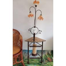 Торшер кованный +столик 8658