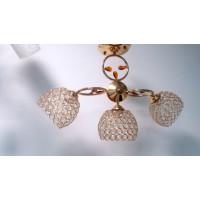 Люстра потолочная с хрустальными плафонами 90409-3-3